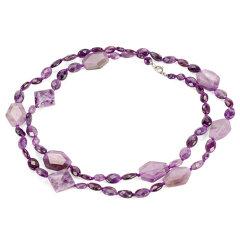 天然紫晶长款项链 货号111392
