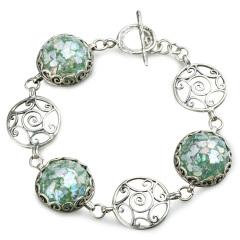 Zuman玻璃螺纹手链