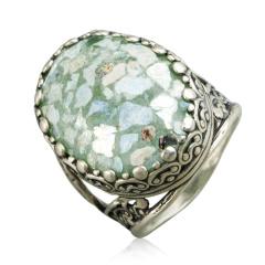 Zuman玻璃椭圆形戒指  货号114453