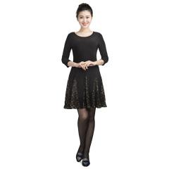 N.L针织蕾丝拼块裙 货号116120