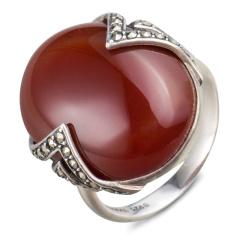 MARC椭圆红玛瑙戒指