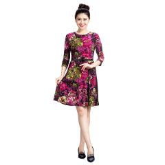 N.L女士针织印花连衣裙  货号118415
