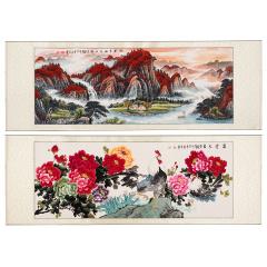 《鸿运聚福安居图》国画精品组 货号119988