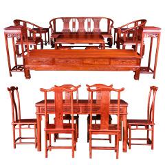 刺猬紫檀古典客餐厅套组 货号120166