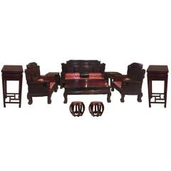 宝翔非洲酸枝沙发9件套 货号120738