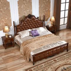 富阁美式豪华实木卧室套组 货号121844
