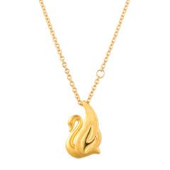 金一天鹅之恋黄金套链组合 货号122547