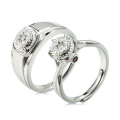 翠璨永结同心钻石戒指独供套组 货号123185