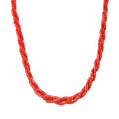 保丽金红珊瑚项链双11组 货号124572