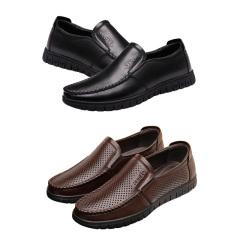 鳄鱼恤头层牛皮单皮鞋套组