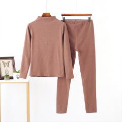 2020冬季新款韩版德绒打底保暖套装舒适高领保暖大码女款冬装