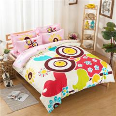 VIPLIFE家纺 全棉四件套纯棉床上用品床单被套时尚卡通床品套件