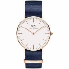 【香港直邮】新品丹尼尔惠灵顿DW女士手表蓝色织纹带腕表DW-BLUE 0005