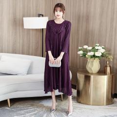 褶爱一生优雅气质女士连衣裙