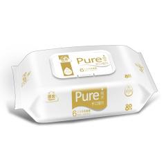 洁云 纯水手口湿巾婴儿适用呵护纸品-80片整箱装( 12包装)