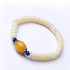 琳福珠宝 波罗的海天然琥珀 白蜜盘珠女士手串手链
