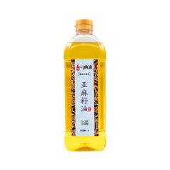 戈壁工坊冷榨一级亚麻籽油1L