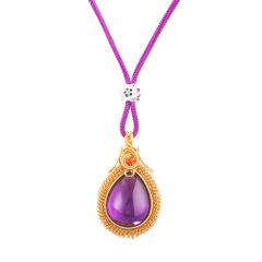 宝庆银楼紫晶手工编织项链