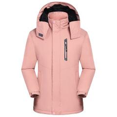 冬季新款男女冲锋衣 户外防风保暖防寒滑雪棉服 加绒加厚工作服