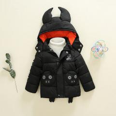 新款现货1~3岁连帽背包猪童棉衣 加厚保暖童棉衣 宝宝冬季套装