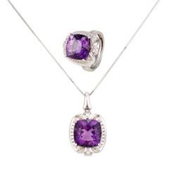 紫气东来紫水晶套装
