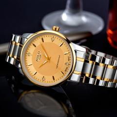 POLO MARK瑞士原装进口机芯镶钻男士手表2019新款