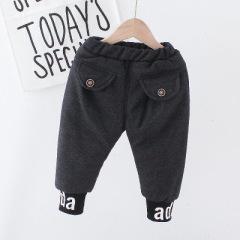 童装裤子休闲加绒加棉三层童裤冬款运动保暖儿童裤子宝宝外穿棉裤