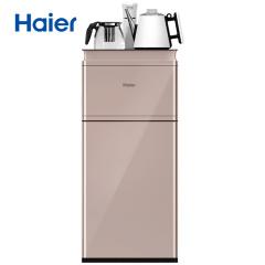 海尔Haier 柜式温热型饮水机全自动家用茶吧机YR1688-CB卡其金 升级防烫水壶 智能自主控温