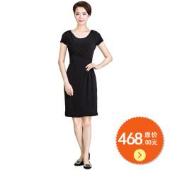 馨蒂.玛垂领短袖连衣裙 货号106407