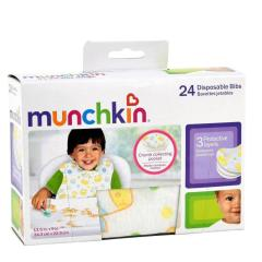 Munchkin/麦肯齐 满趣健宝宝一次性纸围嘴婴儿围兜饭兜口水巾24片装