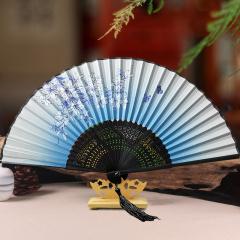 扇子折扇女古风夏季小随身妈妈款折叠中国风古典便携学生女士流苏