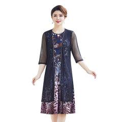 巴莉蔻炫彩定位花两件套连衣裙