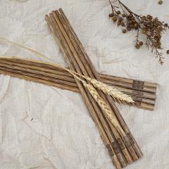 鼎匠鸡翅木筷子家用无漆无蜡木质筷子实木餐具10双家庭套装