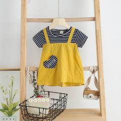 菲儿小屋   0-3岁2020春夏季新款女宝宝可爱爱心图案时尚连衣裙
