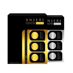 泰国Anjeri补水修复睡眠面膜(金+银)5g*8粒/盒共两盒