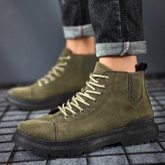 马丁靴男鞋2020秋冬款休闲短靴潮流厚底短靴休闲鞋工装靴