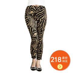 N.L针织提花罗马布瘦腿裤 货号112163
