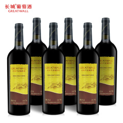 中粮长城干红葡萄酒梅鹿辄赤霞珠红酒红酒礼盒晚安酒整箱