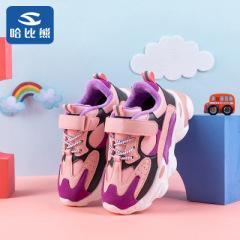 哈比熊儿童棉鞋学生运动鞋2019秋冬新款中大童休闲跑步鞋老爹鞋潮