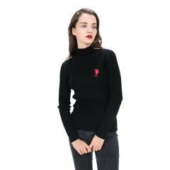 美国马球协会USPA女士100%羊毛衫BD-QM11A黑/BD-QM12-1紫