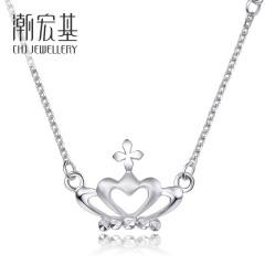 潮宏基 PT950铂金 桂冠加冕项链项链项链项链女  链长约42cm