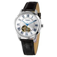 COGU手表男士腕表商务时尚潮流男式全自动镂空机械表皮带2019新款意大利品牌手表