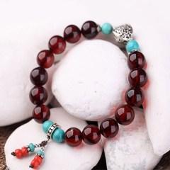 琳福珠宝  波罗的海天然琥珀 血珀女式手链 (国检证书  )