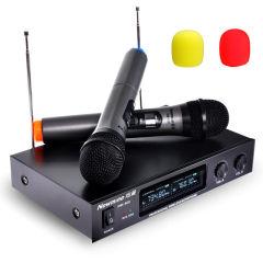 纽曼DM-669 无线麦克风 双麦一拖二舞台无线话筒 黑色