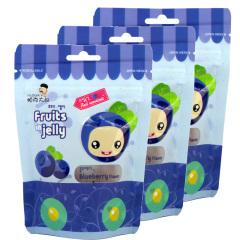 韩国进口帕克大叔蓝莓味果汁软糖3袋装