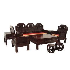非洲酸枝招财进宝沙发8件套 货号122706
