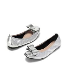 达芙妮(DAPHNE)休闲浅口牛皮蝴蝶结芭蕾舞鞋1017101024