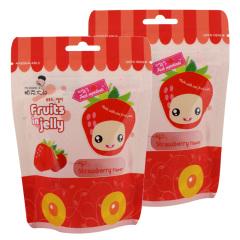 韩国进口帕克大叔草莓味果汁软糖2袋装