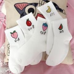 【十双装】女士中筒袜韩版女长筒袜子女 可爱高筒女袜子