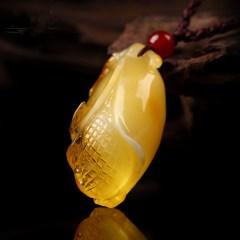 琳福珠宝 琳福珠宝年年有余蜜蜡吊坠项链毛衣链